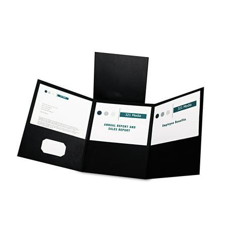 Oxford Tri-Fold Folder w/3 Pockets, Holds 150 Letter-Size Sheets, - 3 Pocket Folder