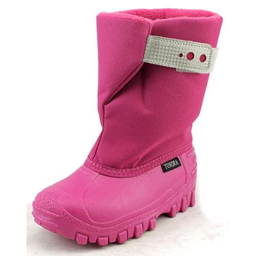 Tundra Teddy 4 Toddler US 10 Pink Snow Boot
