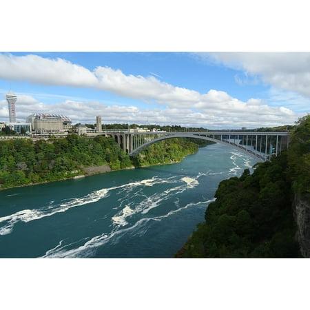 LAMINATED POSTER Rainbow Bridge Niagara Border Usa River Bridge Poster Print 24 x 36