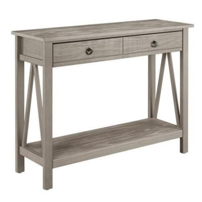 Bowery Hill Console Table in Rustic Gray