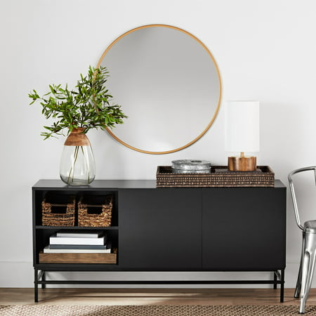 Mainstays Sumpter Park Console Table, Black Oak ()