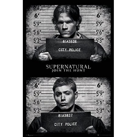 Supernatural - Black and White - Dean And Sam Winchester 24x36 Poster, High Quality Poster Print By Poster Art House,USA - Sam And Dean Winchester Halloween Costumes