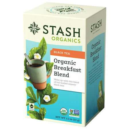 Stash Tea Organic Breakfast Blend Black Tea, 18 Ct, 1.1 Oz