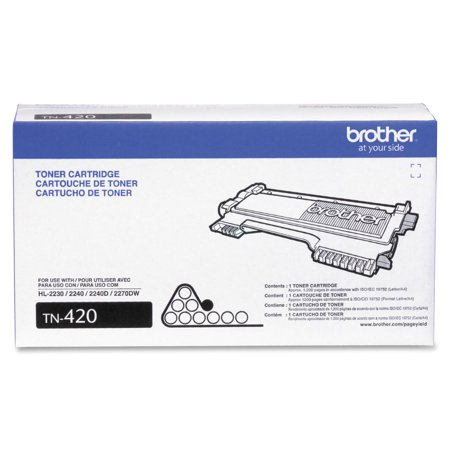 Black Risograph Toner (Brother Genuine Toner Cartridge, TN420, Replacement Black Toner, Page Yield Up To 1,200)