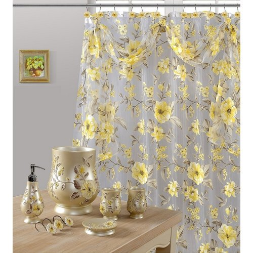 Daniels Bath Melrose Sheer Single Shower Curtain