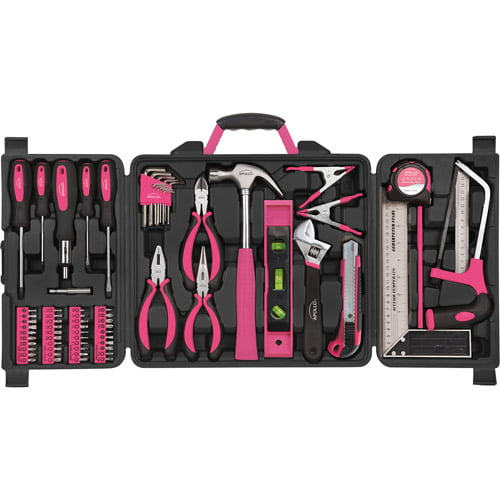Apollo Tools 71-Piece Household Tool Kit, Pink by Apollo Tools