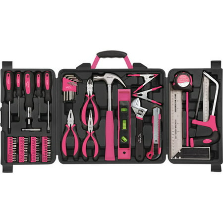 Apollo Tools 71-Piece Household Tool Kit, Pink
