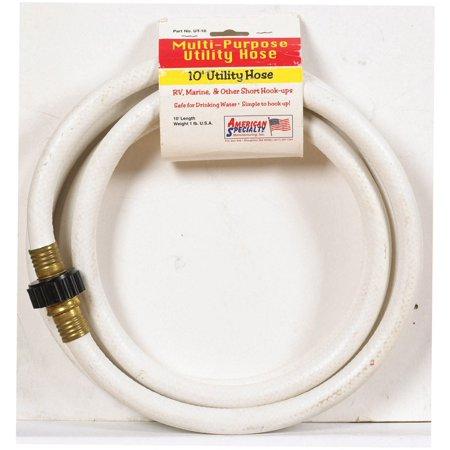 10' White Feed Hose (American Specialty CELMRV12010 Multi-Purpose Utility Hose, 1/2