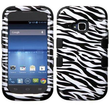 ZTE Z730 Concord II MyBat TUFF Hybrid Phone Protector Cover, Zebra Skin/Black