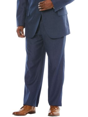 KS SignatureMen's Big & TallKS Signature Easy Movement Plain Front Expandable Suit Separate Dress Pants