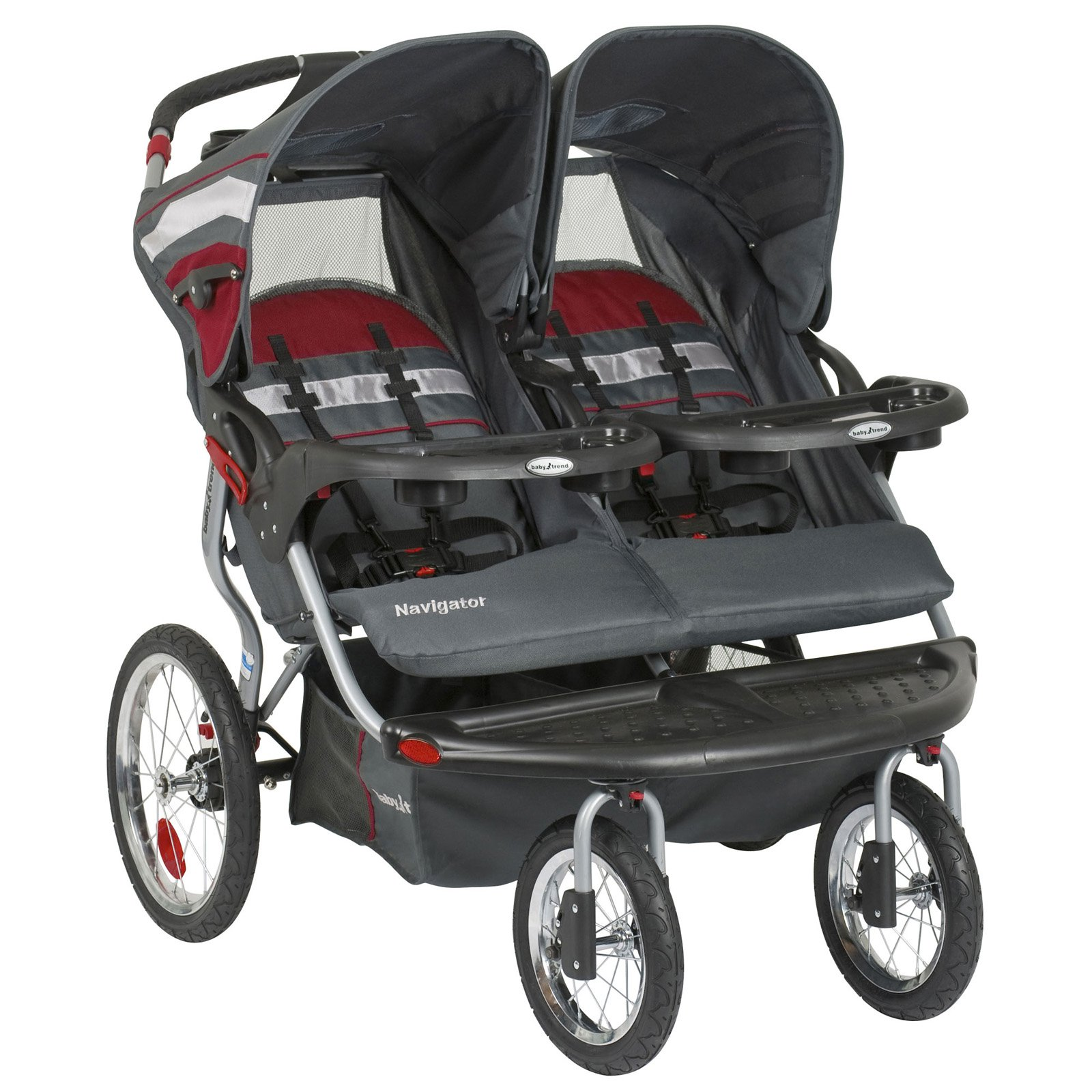 Baby Trend Navigator Double Jogger Stroller Baltic by Baby Trend