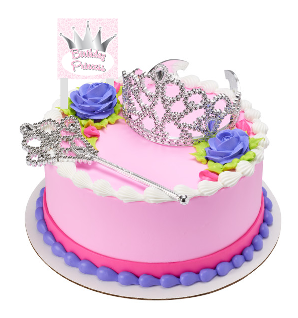 Birthday Princess Crown and Tiara With Plaque Cake Decoration Topper