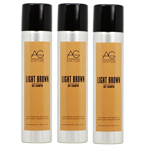 "AG Hair Simple Dry Dry Shampoo -Light Brown 4.2oz ""Pack of 3"""