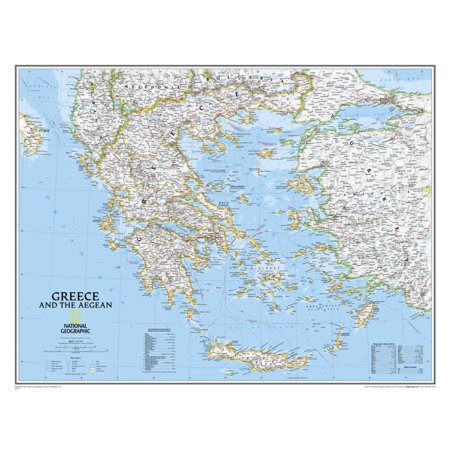 National Geographic - Greece Classic Map Laminated Poster Laminated