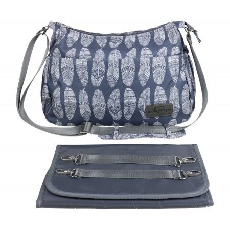 08be7a0393494 Diaper Bag Purse & Matching Changing Pad in Premium Gray Nylon w/11 Pockets  Insulated for Baby Bottles Silver Tone Hardware Perfect Spacious Crossbody  ...