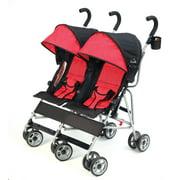 Kolcraft Cloud Double Umbrella Stroller, Scarlett Red