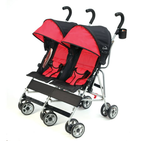 - Kolcraft Cloud Double Umbrella Stroller, Scarlett Red