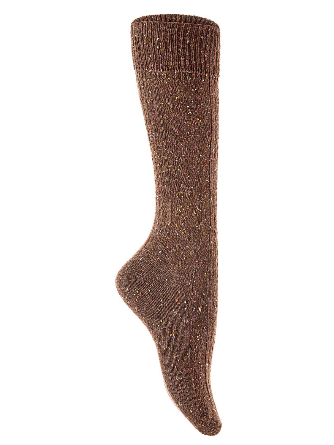 Lian Style Big Girl's 1 Pair Wool Knee-high Crew Socks Size L (Gray)