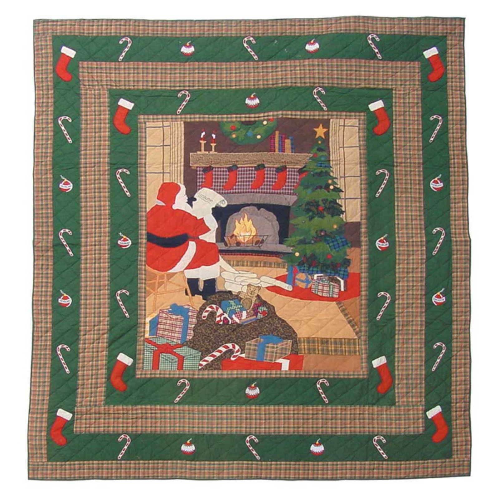 Patch Magic Santa By The Fireside King Quilt