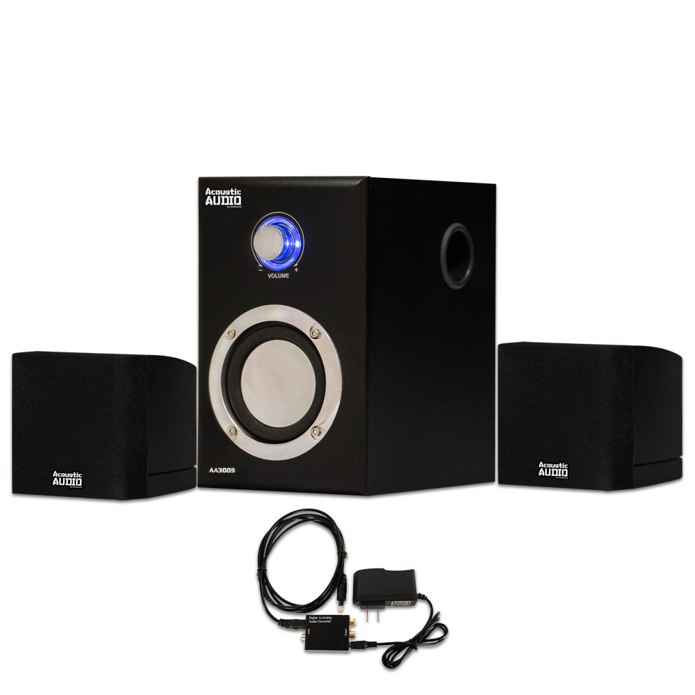 Acoustic Audio by Goldwood Acoustic Audio AA3009 Home 2.1 Speaker System with Optical Input for Multimedia