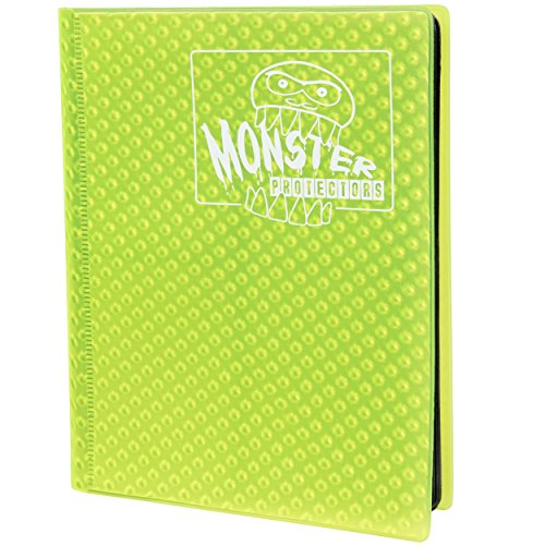 Monster Binder - 4 Pocket Trading Card Album - Holofoil Yellow - Holds 160 Yugioh, Magic, and Pokemon Cards