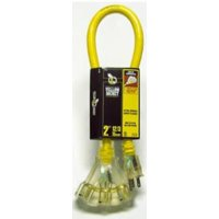 Power Block 15A 12 Gauge Triple Outlet 2' Extension Cord Only One