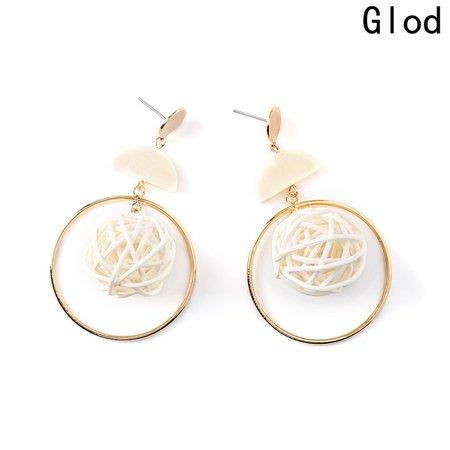 KABOER 2019 Hot Custom Fashion Drop Earrings Design Weave Nest Shaped Wood Semicircle Big Circle Pendant Handmade Earrings For