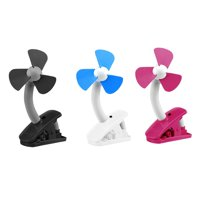 O2COOL 4 inch Portable Battery Powered Stroller Clip Fan, Assorted Colors