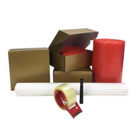 Uboxes Holiday Gift Box Kit, Gold Square, 3 Boxes, Mailing Supplies](Gold Gift Box)