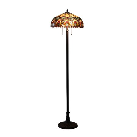 Floral One Light - Chloe Lighting Sunny Tiffany-Style 2-Light Floral Floor Lamp with 18