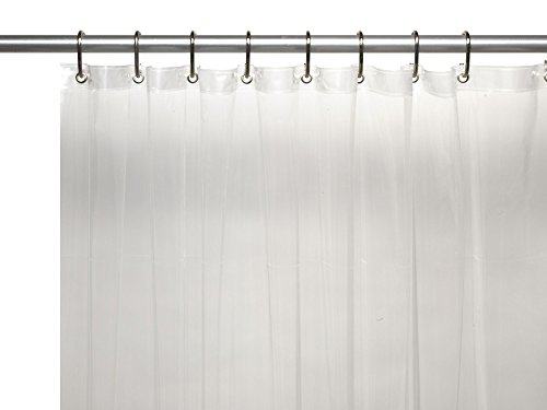 Royal Bath Heavy 3 Gauge Vinyl Shower Curtain Liner With Weighted Magnets  And Metal Grommets (