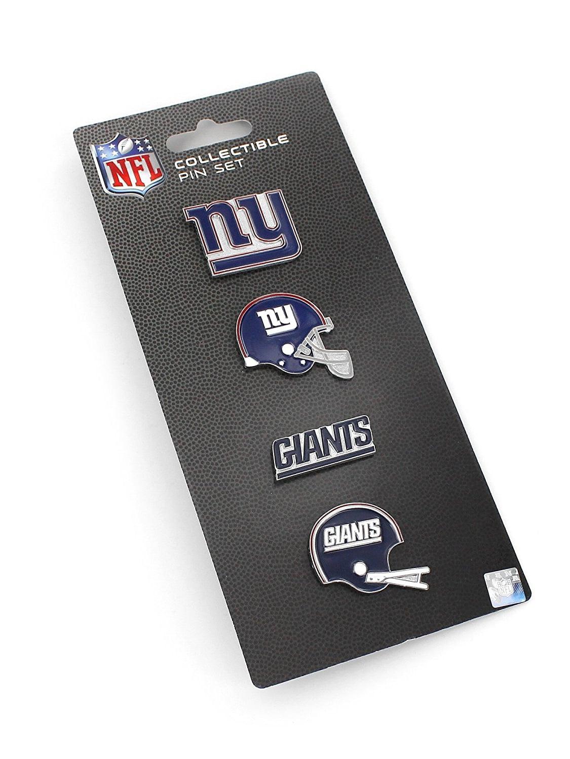 NFL New York Giants Logo Evolution 4 Pin Set, Royal Blue, Red, 1 1 4-inch by Siskiyou