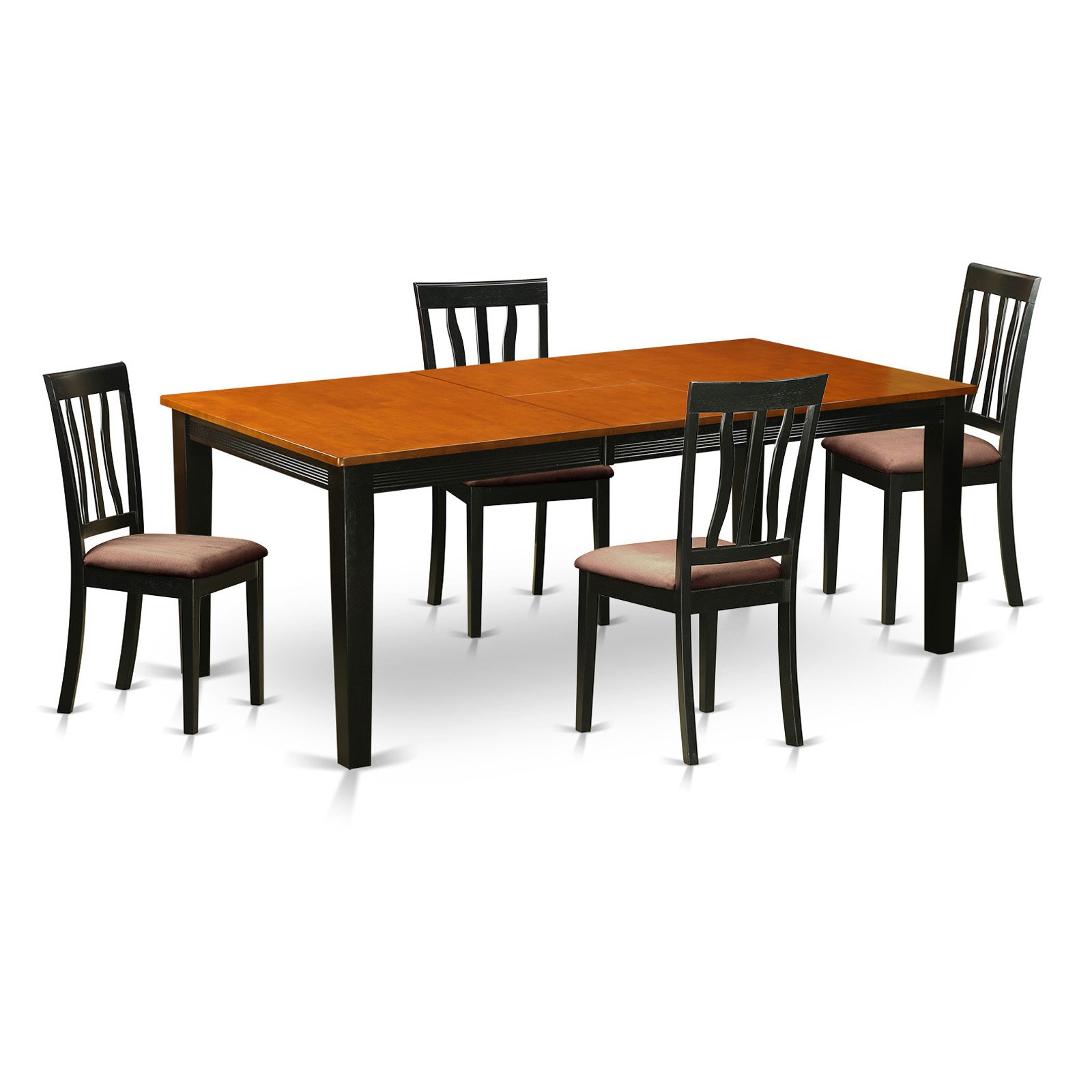 East West Furniture Quincy 5-Piece Splat Back Dining Table Set