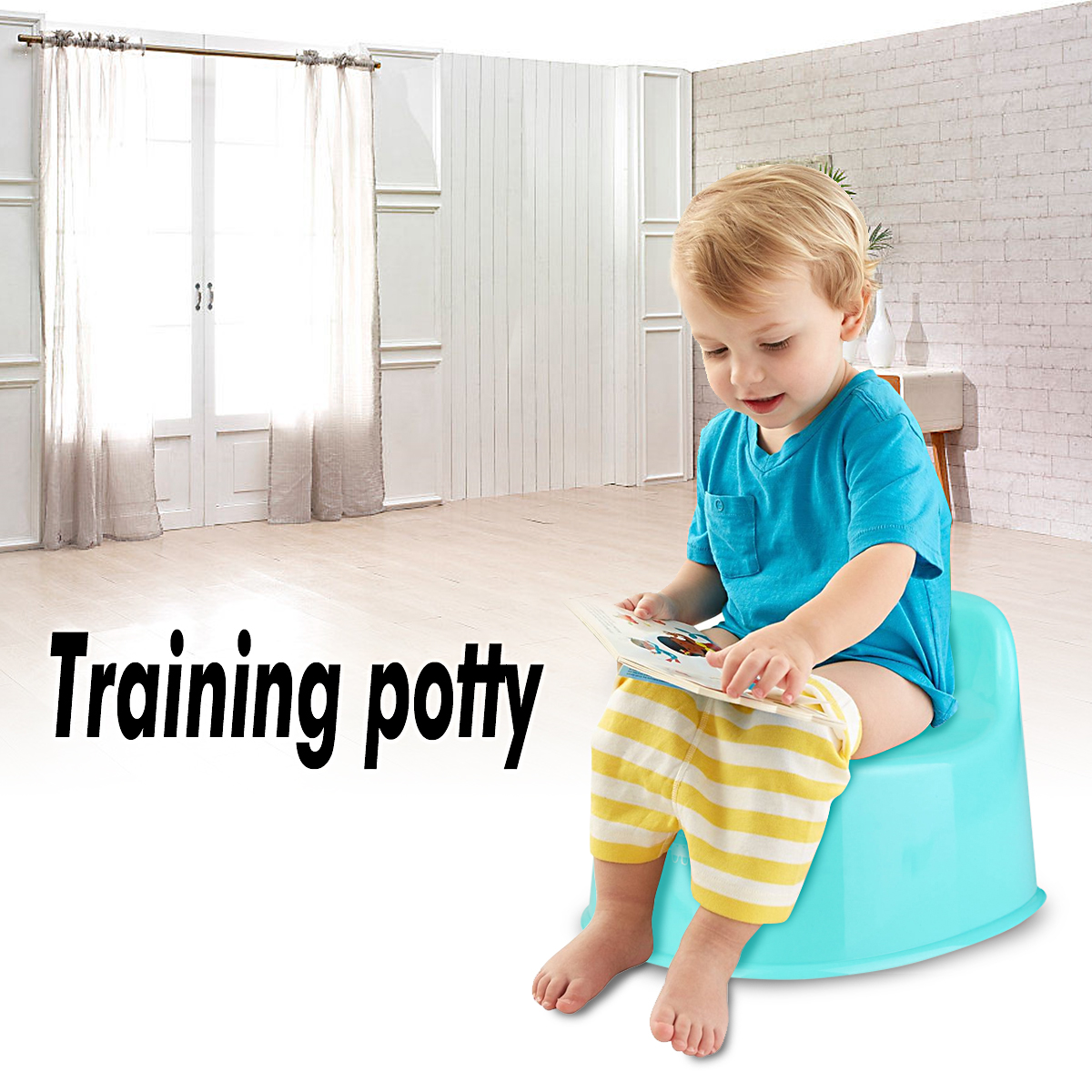 Children Kids Girl Toddler Baby Training Potty Toilet Seat Chair Pee Trainer,Light Blue color