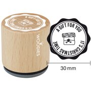 """Woodies Mounted Rubber Stamp 1.35""""-A Gift For You"""