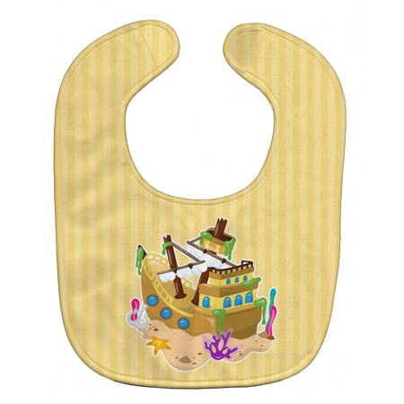Caroline's Treasures Baby Bib, Pirate Ship
