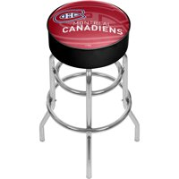 NHL Chrome Bar Stool with Swivel - Watermark - Montreal Canadiens