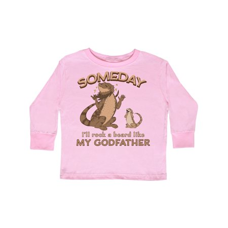 Someday I'll Rock A Beard Like My Godfather-Bearded Dragons Toddler Long Sleeve T-Shirt