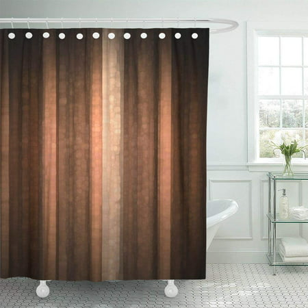 BPBOP Brown Earth Orange Copper and Pale Peach Abstract with Cool Glass and Vintage Stripe Design Pink Shower Curtain 66x72 inch ()