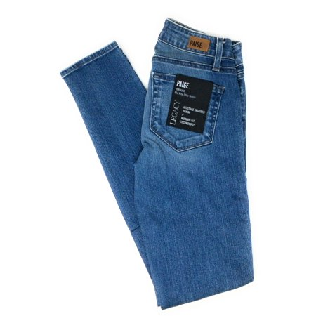 Paige Womens Verdugo Jeans Mid Rise Ultra Skinny Paneled Cairo Blue 23 X