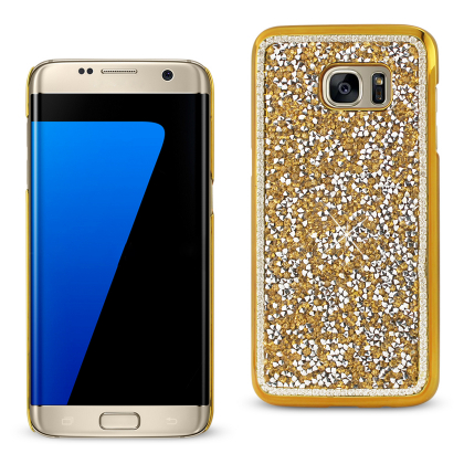 REIKO SAMSUNG GALAXY S7 EDGE JEWELRY BLING RHINESTONE CASE IN GOLD