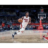 Jimmy Butler Miami Heat Unsigned Dribbling Photograph