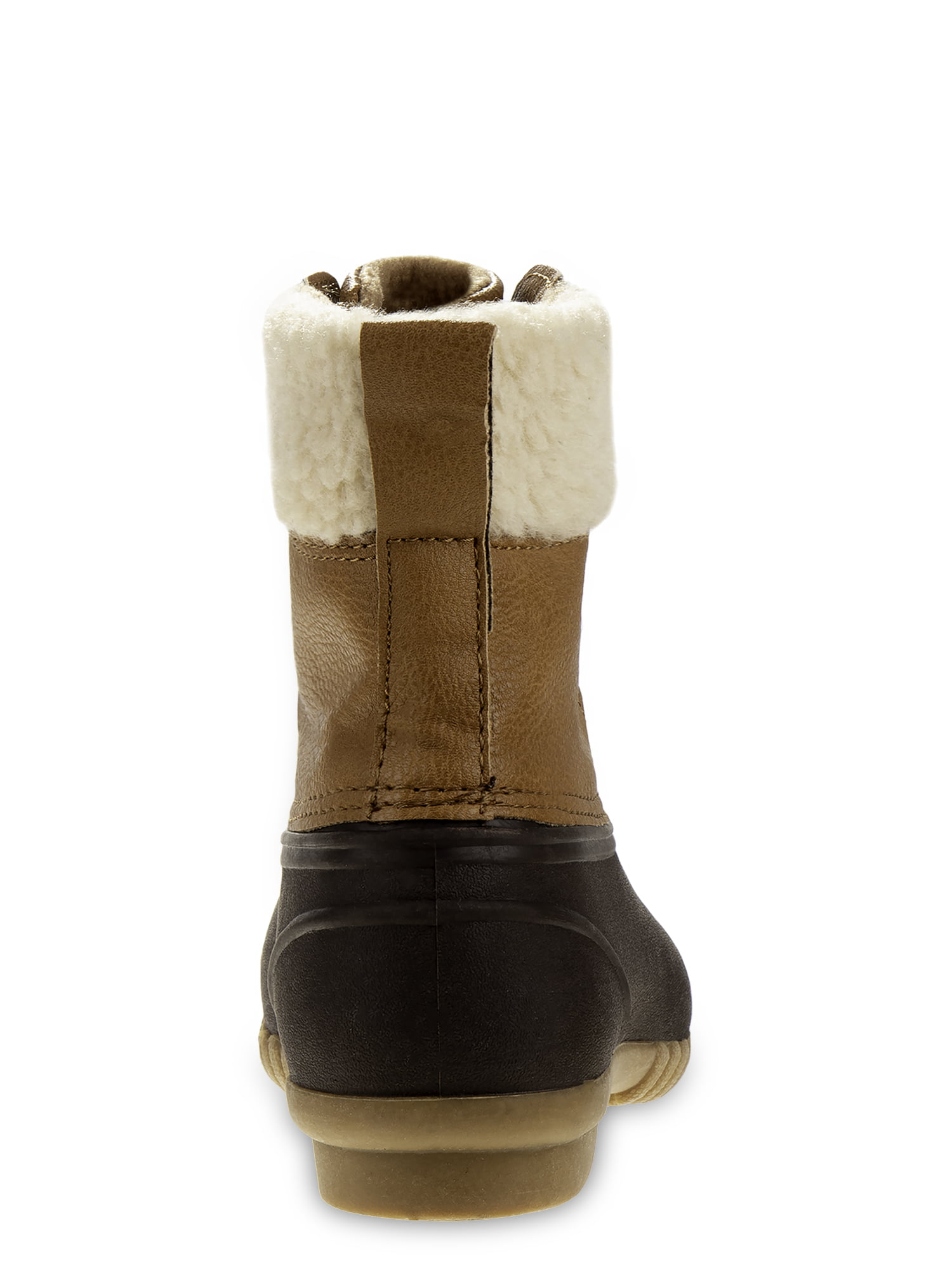 Little Boys /& Big Boys Josmo Lace Up Fur Lined Duck Boots