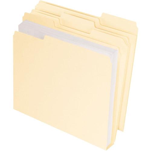 Pendaflex Cutless/Watershed/Double Stuff File Folders, Letter, Manila, Box of 50