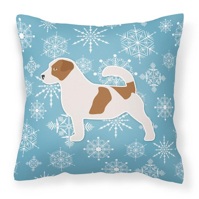 Carolines Treasures BB3507PW1414 Winter Snowflake Jack Russell Terrier Fabric Decorative Pillow - image 1 of 1