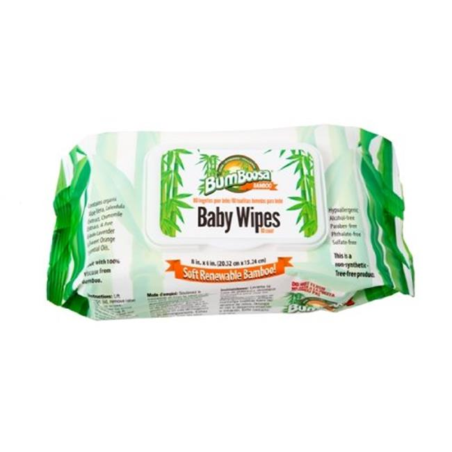 Bum Boosa Bamboo Products Baby Wipes 24 Bulk Case, 1,920 Count by Bum Boosa