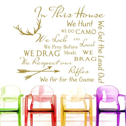 Decal House Family House Rules Quote Wall Decal