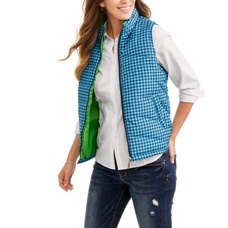 Women's Lightweight Puffer Vests with Contrast Lining