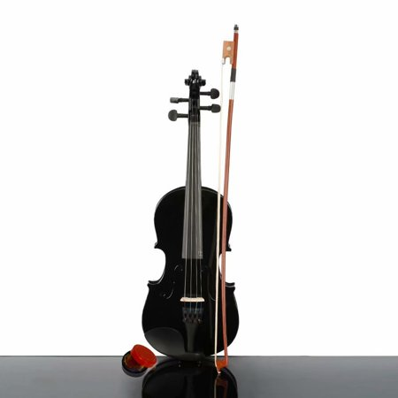 New 1/4 Acoustic Violin Case Bow Rosin Blackfor beginner for kid Musical