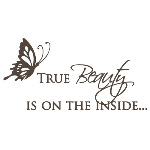The Decal Guru True Beauty Wall Decal